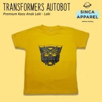 Baju Kaos Anak Cowok Laki - Laki Transformer Autobot Premium