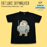 Baju Kaos Anak Laki - Laki Fat Luke Star Wars Lengan Pendek Premium