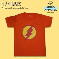Baju Kaos Anak Cowok Laki - Laki Flash Mark Superhero Batman Premium