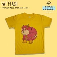 Baju Kaos Anak Laki - Laki Fat Flash Lengan Pendek Premium
