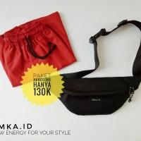 Paket Ganteng celana pendek + waist bag EmkaID