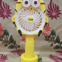 Mini Fan Usb + Lampu Led (Karakter Lucu)