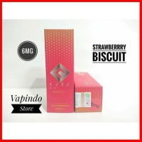 6MG CAFA SWITCH BISCUIT STRAWBERRY GOLD 60ML SERIES LIQUID E