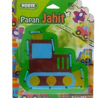 Mainan Kayu Edukasi / Edukatif - Papan Jahit 3d traktor