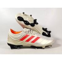 Sepatu Bola Copa 19.1 White / SOlar Red FG Replika Impor