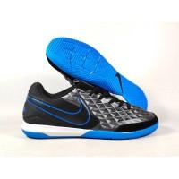 Sepatu Futsal Tiempo Legend VIII Pro Black Blue IC Replika Impor