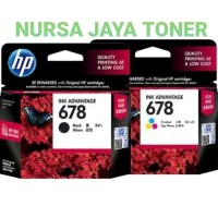 Paket Tinta HP 678 Black + Colour Original