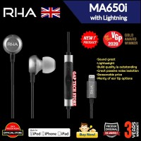 RHA MA650i / MA 650i with Lightning Earphone with Microphone for Apple