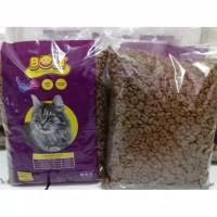 Makanan Kucing BOLT Repack 1Kg / Bentuk DONUT - BOLT CAT FOOD