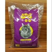 Makanan Kucing BOLT Repack 1Kg / Bentuk Ikan - BOLT CAT FOOD