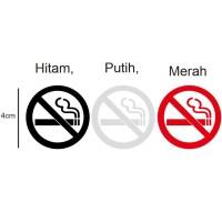 Stiker No Smoking Kaca Dashboard Mobil Cutting Sticker