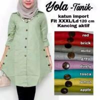 Pakaian Baju Atasan Wanita Muslim Tunik Jumbo Yolla Terbaru Blouse