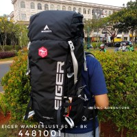 Tas Ransel Gunung Carrier Outdoor Eiger 4481 Wanderlust 60L Original