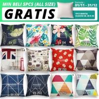 Sarung Bantal Sofa / Kursi - All Size 30, 40, 45, 50, 60, 65, 70 - 30x30