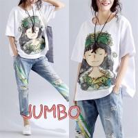 Damai fashion - baju atasan KAOS JUMBO - big size MOANAH - kon