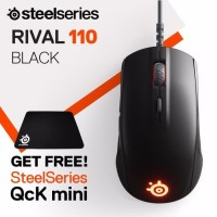 Steelseries Mouse Rival 110 Matte Black + Qck Small