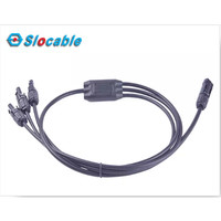 MC4 Cable Assembly 3 to 1 3 Input 1 Output X Type Branch Kabel Solar