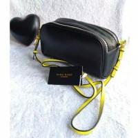 Tas wanita cewek branded import selempang leather slingbag zara basic