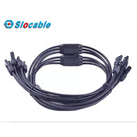 MC4 Cable Assembly 5 to 1 5 Input 1 Output X Type Branch Kabel Solar