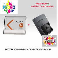 PAKET BATERAI SONY NP-BN1 + CHARGER BC-CSN