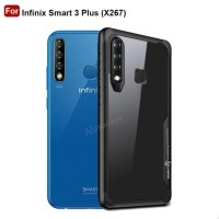 Case Infinix Smart 3 Plus Casing Transparant Back Shockproof Hardcase