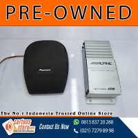 Speaker Center Pioneer dan Amplifier Center Alpine (Pre Owned)