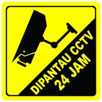 Stiker CCTV Bahan Anti Air