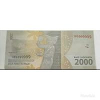 Uang nomor seri solid unik