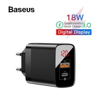 BASEUS Charger Mirror Lake PD Power Delivery Fast Charging QC 3.0 Wall