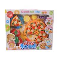 STORIQA Play Food Pizza Mainan Buah Sayur Potong