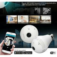Kamera CCTV Bulb Lampu Bohlam SPy Wireless wifi Panorama 360 IP camera