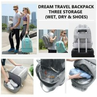 Tas travel backpack premium 3 layer multi fungsi ( DREAM TRAVEL )