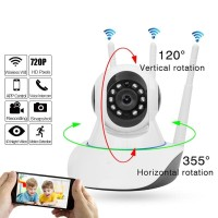 IP Cam Wifi 3 Antena Camera Home Security Night Vision