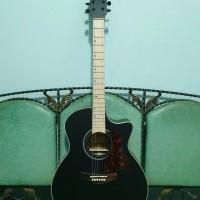 gitar akustik elektrik merk cort blackdoff eq tuner cowboy murah