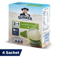Quaker 3in1 Matcha Box 4 Sachets