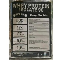 Whey Protein Isolate 500gr WPI 90 Susu Protein