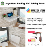 Promo Meja Lipat Dinding Uk Panjang 80 cm x Lebar/ Kedalaman 40 cm
