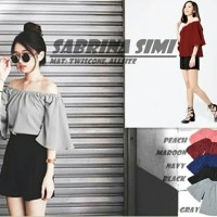 [sabrina simi RO] blouse wanita twiscont var color