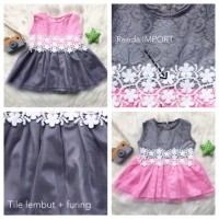 Baju Bayi Dress Pesta Gaun Modern Kualitas SNI Usia 6 - 18 Bulan