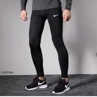 Celana Panjang legging Pria sport Nike Hitam spandek melar keren