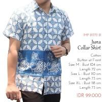 Atasan Batik Pria - Juna Collar Shirt