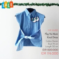 Mini Dress Anak Perempuan - Play No More Knot Dress SALE