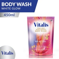 Vitalis Body Wash White Glow Pouch 450 ML