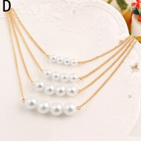 Crystal Sequins Necklace Necklace Metal Pendant Clavicle Chain Jewelry