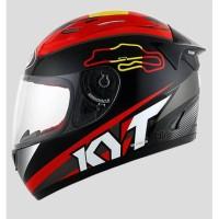 Helm KYT Rc7 RC Seven Motif Spain Red Black Seri 15 Original