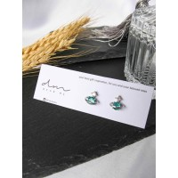 DearMe - FRANK Earrings (925 Sterling Silver with Zicronium Crystal)