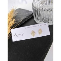 DearMe - NORA Earrings(S925 with 14K Gold plating & Zicronium Crystal)