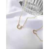 DearMe - HORSESHOE Necklace(S925 & 14K Gold Plate& Zirconium Crystal)