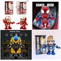 DANCE ROBOT SUPER HERO IRONMAN / IRONGIRL / SPIDERMAN / BUMBLEBEE