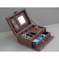 Elegan Brown Croco Jewelry Box / Kotak Tempat Perhiasan & Accesories
